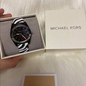 MK ZEBRA Leather STRAP WATCH